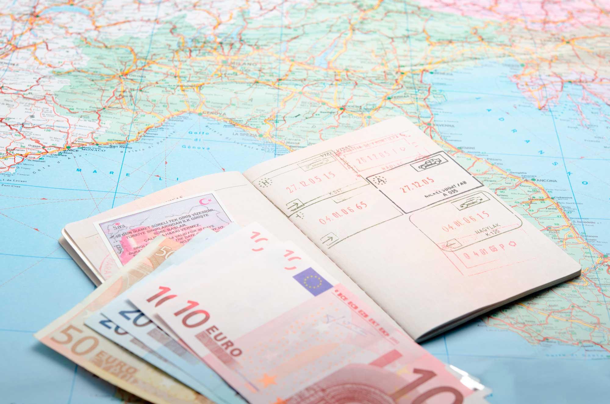 евро на карте